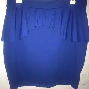 Bebe Peplum Skirt size L